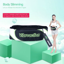 CkeyiN Vibroaction Massager Electronic Body Muscle Waist Slimming Massage Slim Belt Fat Burning Weight Loss Exercise Toning Belt