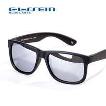 COLOSSEIN Classic Sunglasses Fashion Formal Sunglasses Men Square Black Frame Polarize Glasses Male Fishing Driving Eyewear(China)
