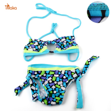 Baby Girls Swimwear Kids Swimming Bikinis Set Two Pieces Baby Girls Bathing Suit Children Lace Cute Swimsuit Bikini Set