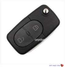 2pcs New Complete Flip Remote Key 2 buttons 433.92Mhz ID48 Chip for Old Models Audi A3 A4 / A4 A6 / A6 Quattro RS4 4D0 837 231R