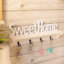 "Vogue ""Sweet Home"" Shelves Wall Rack Wooden Home Holder Storage Hanger Decors"