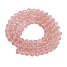Crystal Bead glass loose beads flat round faceted scattered beads DIY jewelry materials sold by string(4MM,around 150pcs) 0345(China)