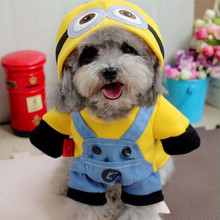 Funny Pet Dog Clothes for Small Dog Cat Costume Spring Puppy Hoodie Coat Jacket Minions Pajama Outfit Chihuahua Summer Clothes35