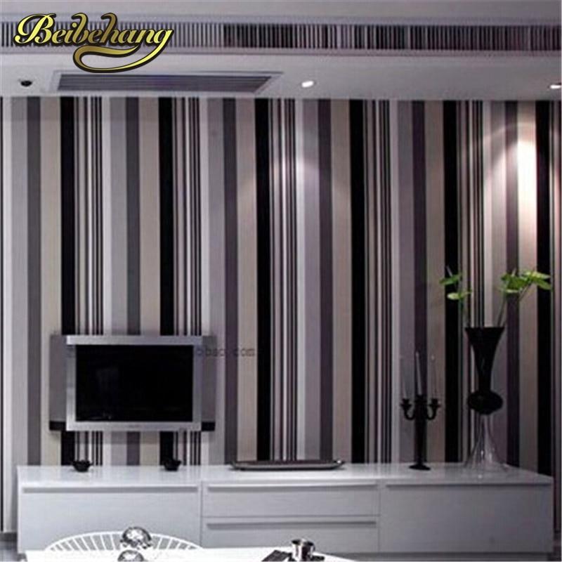 beibehang Modern Simple Stripes Texture Wallpaper Embossed Wallpaper Bedroom Decor Environmental Home Supplies papel de parede <br>