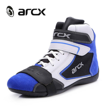 ARCX Genuine Cow Leather Motorcycle Boots Men Breathable Cruiser Scooter Motorbike botas Moto Shoes Ankle Motorcycle Shoes