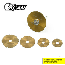 6 pcs HSS Rotary Tools Circular Saw Blades Cutting Discs Mandrel Cutoff Cutter Power tools multitool 1ON7 2KET(China)