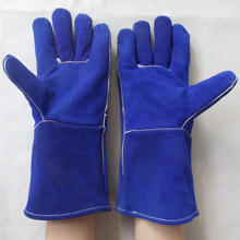 High quality long style welding gloves safety protective wear-resisting Heat insulation resistant all cowhide working gloves