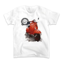 classic vespa t shirt men jollypeach brand new Casual tee shirt homme Comfortable tshirt Plus Size t-shirt No glue feeling print(China)