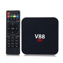 V88 Android 6.0 TV Box RK3229 Quad-Core CPU 1G+8G 4K movies WIFI 3D Movie smart media player Support 4 X USB SD Card Slot PK X96