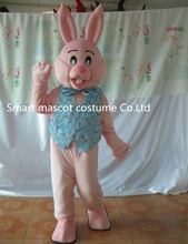 Cute rabbit costume mascot pink rabbit easter bunny costume for adult