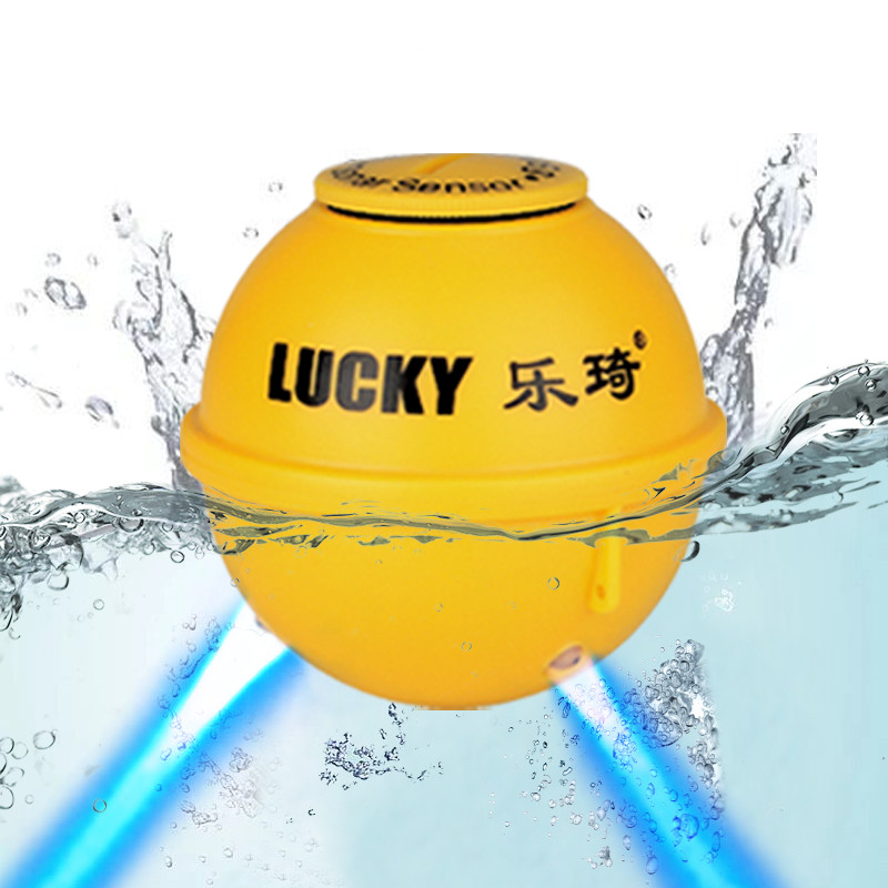Lucky Rechargeable Wireless Remote Sonar Sensor 45M water depth For Original FFW718 FF518 LUCKY Fish Finder fishfinder russian<br>