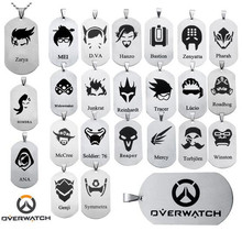 Hot Sale Overwatch Stainless Steel Dog Tags OW Hero Logo Pendant Necklace Hero alliance decorations Chain