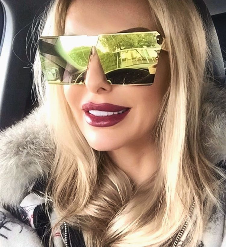 2018 Luxury Vintage Square Rimless Sunglasses Women Brand Designer Driving Sun Glasses For Women Men Lady Female Sunglass Mirror