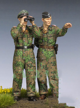 Free Shipping 1/35 Scale Unpainted Resin Figure World War II German tank man 2 figures collection figure(China)