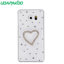 Udapakoo Bling crystal rhinestone phone Case for Samsung Core 2 G355H Grand Max G7200 Ace 4 G357 Alpha G850 Core Prime G360(China)