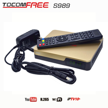 Tocomsat best iptv receiver TOCOMFREE S989 Full HD DVB-S2 conversor android tv Twin Tuner cccam newcam  Chile brasil America