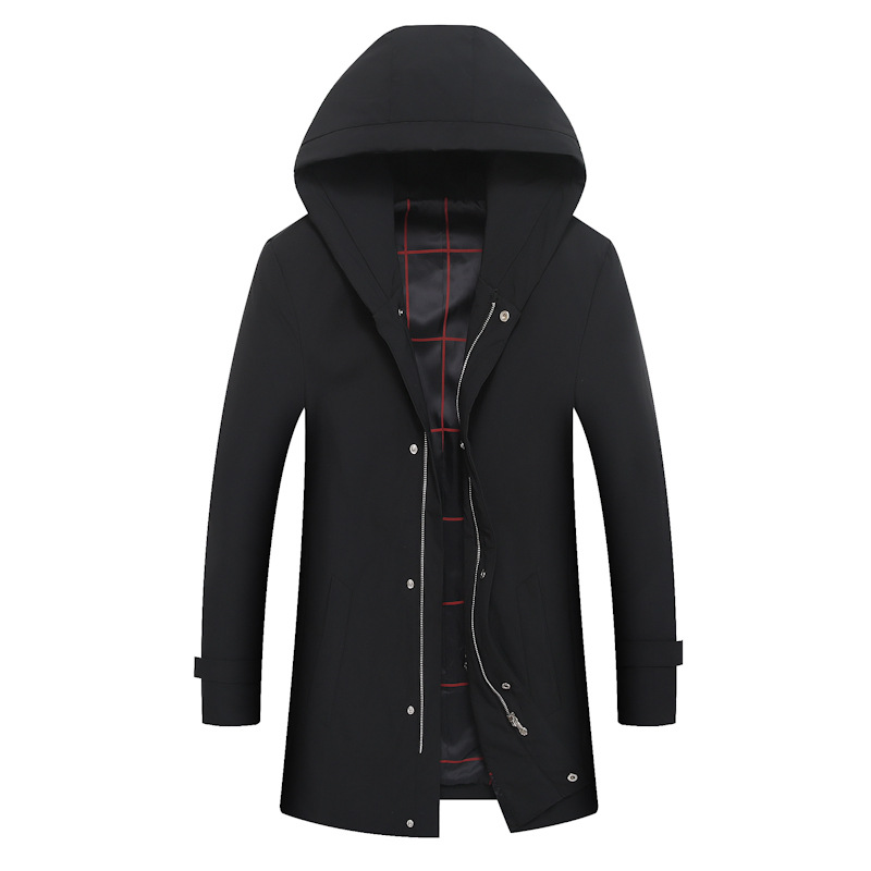 2017 spring new style Men's fashion leisure hooded jacket trench coat  Men of high quality windbreak Men's jackets size M-3XL