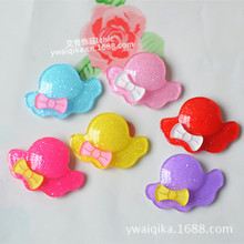50PCS New cute bow hat acrylic hat accessories diy handmade baby headwear hair jewelry materials(China)