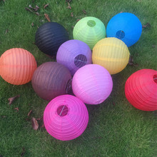 DIY 20cm 25cm 30cm 35cm 40cm  Round White Paper Lanterns Multi-color Chinese Hanging Ball Lampions Wedding Birthday Party decor