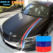 KAHANE M Color Stripe Car Hood Vinyl Sticker Body Decal 2M 3M 4M 5M For BMW M3 M5 M6 E46 E61 E90 E92 3/5/7 Series(China)