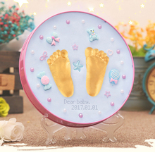 Baby Care Air Drying Soft Modeling Clay Infant Handprint Footprint Imprint Kit Casting Parent-child Hand Inkpad Fingerprint Toy(China)
