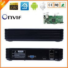 Newest Mini NVR Full HD 4 Channel 8 Channel Security CCTV NVR 1080P 4CH 8CH ONVIF 2.0 For IP Camera System 1080P With Radiator