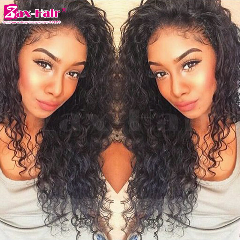 Unprocessed Full Lace Wigs Curly Glueless For Black Women Human Hair Lace Front Wigs 7A Virgin Stocked Full Lace Human Hair Wigs<br><br>Aliexpress