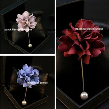 [ Buy 3 get 1 free ] Designer Multi Color 3D Flower Pin brooch Wedding Jewelry Gift box pack