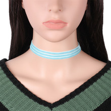 New Hot Velvet Pink Blue Green Chokers Necklaces Gothic Tattoo Sex Statament Adjustable Choker Necklace Collar Collier For Women