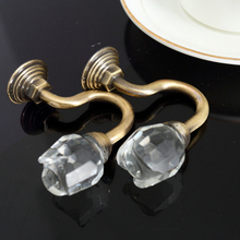 New Arrival High Quality Retro 2 PCS/set Crystal Rose Hook Wall hooks Fixed with nails 3 colors