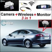 3 in1 Special Rear View Camera + Wireless Receiver + Mirror Monitor Back Up Parking System For Ford For Mondeo 2008~2014(China)