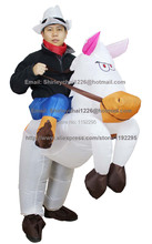 2015 New christmas costumes Funny Inflatable White Horse Costume Women Cosplay for Carnival halloween costumes for women
