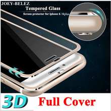 3D 9H Tempered Glass For iPhone X 7 7 Plus Full Screen Protection Film For iphone 8 8 Plus HD Protector Film for iPhone 6 6 Plus(China)