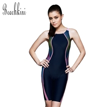 NEW Arrival Women Swimwear Sport Bodysuit Push up Bathing Suit Long Boxer Shorts Plus Size Racing Swimsuit(China)