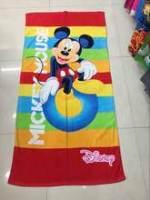 Free shipping 75*150cm Cartoon Mickey Towels baby bath towel Children Beach Bath Towel Cartoon Princess Girls Bikini Covers