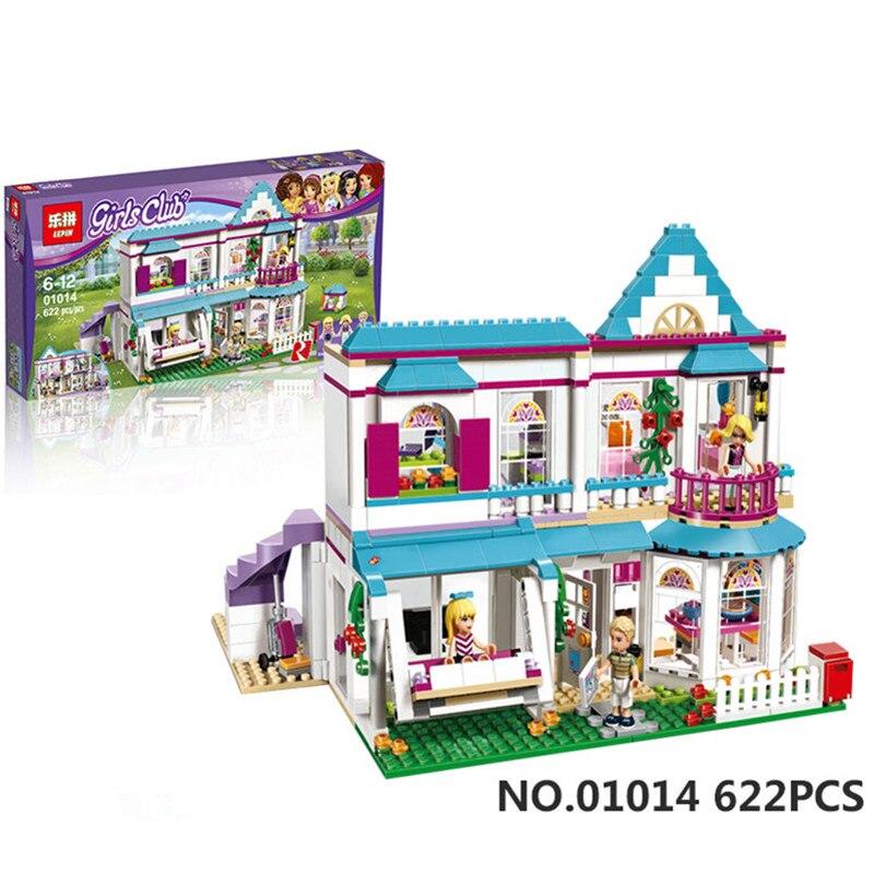 Lepin 01014 622Pcs Friends For Girls Series The Stephanies HouseBuilding Blocks Bricks Educational Toys For Kids 41314<br><br>Aliexpress