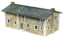 Out of print product! Italeri 6140 - stone house- 1:72 Plastic Model Kit
