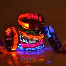 Nice LED Camouflage Night New Camo Led Glow Collar Dog Pet Night Safety Neck Flash Light Up 2 Sizes Wholesales high quality