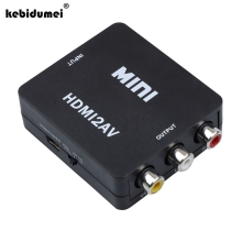 2017 Mini HDMI2AV Video Converter BOX HDMI To RCA AV/CVBS Adapter Support HD 1080P NTSC PAL For PC/PS3/VCR/DVD PAL/MTSC
