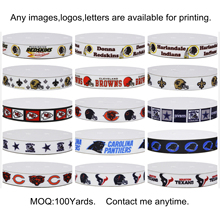 Dobro 15 Choices American Football Game Sport Top Team Printed Grosgrain Ribbons for Hair DIY Craft Party Decoration(China)