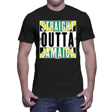 2017 Famous Brand Men's Summer Mens Straight Outta Jamaica Jamaican T-shirt Cotton t shirt slogans Customized shirts for mens