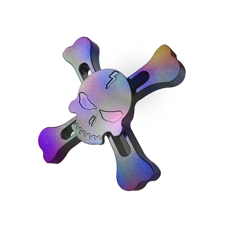 Tri-Spinner Fidget Hand Spinner Camouflage Multi-Color EDC Focus Toys B0352