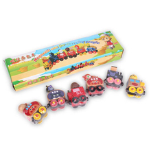 The Gift Kid Love Does Not Store Hand Children Anpanman Magnetic Car Toy Combination Of 6 Wooden Educational Bauble Train Toys