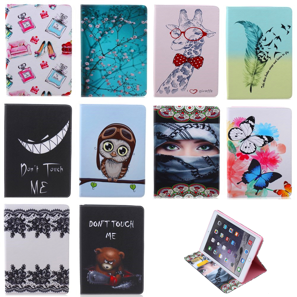 Painted PU Leather Case Card Slots Apple iPad mini 4 Case Folio Stand Protector Apple iPad mini4 tablet cover case