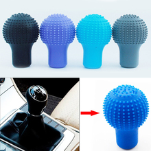 Universal Car Round Silicone Gear Shift Knob Cover Manual Lever Silicon Shifter Knobs Stick Anti Skid Automotive Decoration 1PC