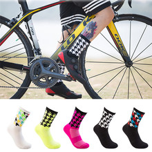 Buy Professional Sport Socks Breathable Road Bicycle Socks Racing Cycling Sock Fitness Knee-High Basketball Running Socks for $2.71 in AliExpress store