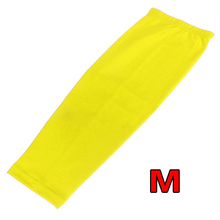 PROMOTION!ELOS-Antislip Sport Basketball Cycling Stretch Leg Protector Calf Knee Long Sleeve - yellow