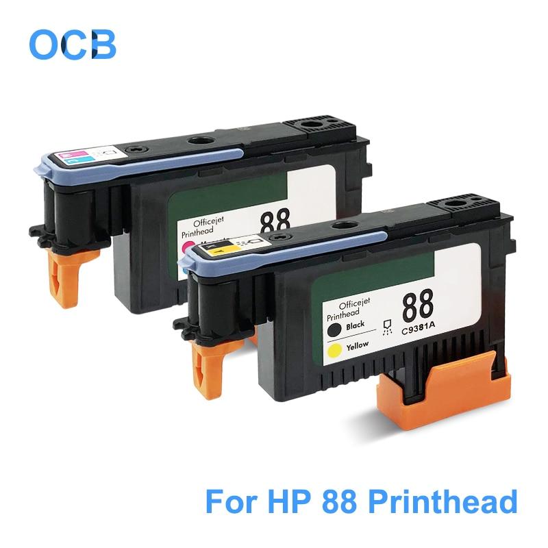 remanufactured 1 set of HP 88 C9381A, C9382A B//Y C//M print heads