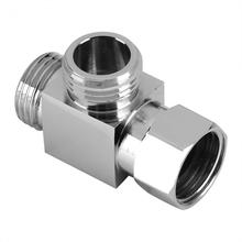 "WALFRONT 3 Way Brass Chrome Diverter G1/2"" T Shape Adapter Valve for Shower Arm Mounted(China)"