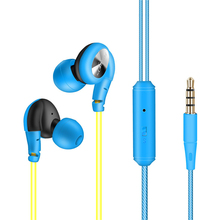 NEW Sport Headphones Waterproof Earphones Running Sweatproof Stereo Bass Music Headset With Mic For All Mobile Phone 3 colors